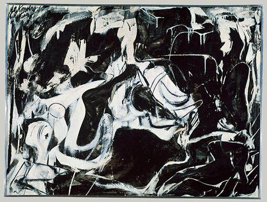Abstract Expressionism Black Untitled