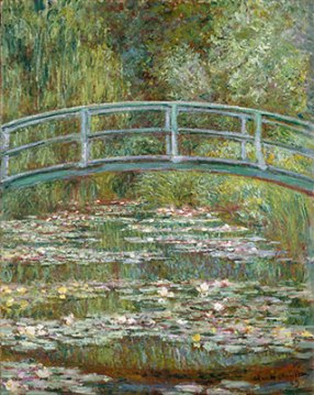 Monet used Heavy Brush Strokes created paintings with Real Texture.