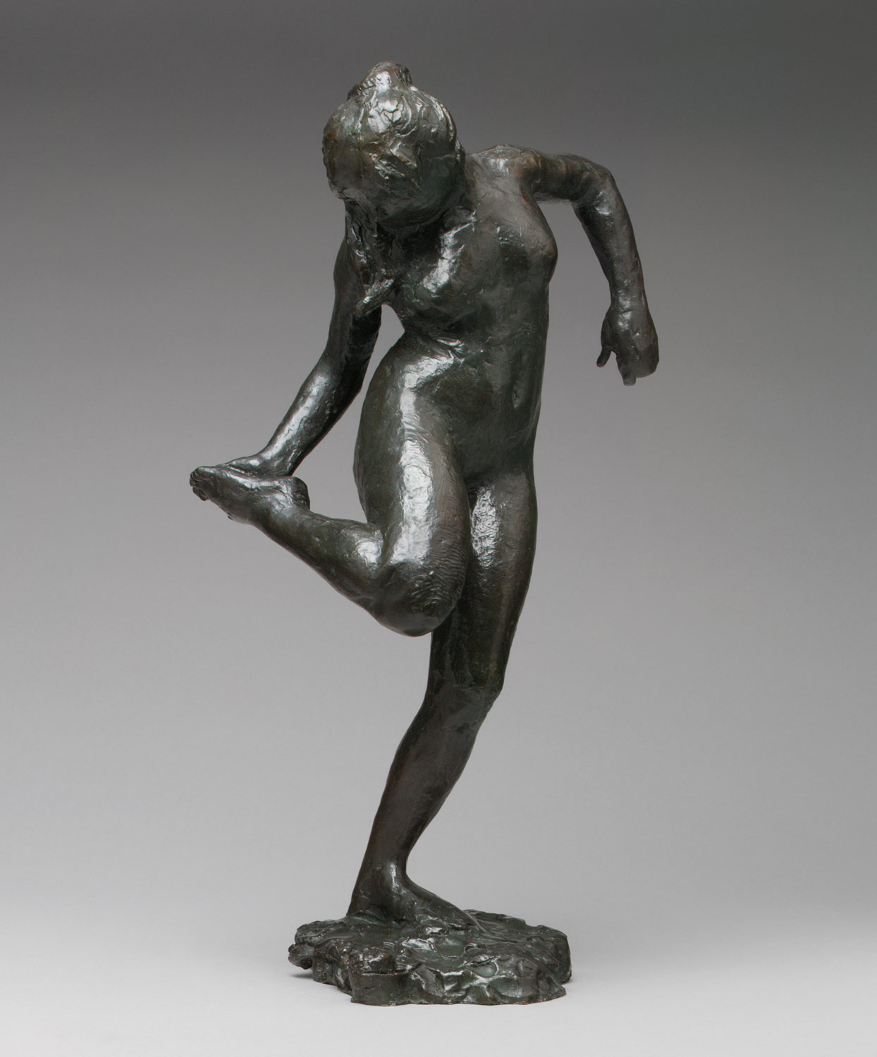 Image result for dancer looking at the sole of her right foot degas