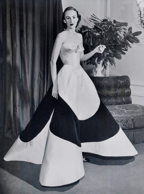 Austine Hearst in Charles James Clover Leaf Gown, ca. 1953