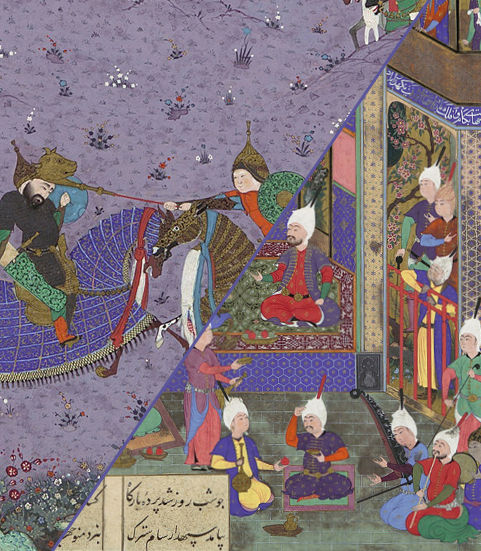 Two folios from the Shahnama of Shah Tahmasp