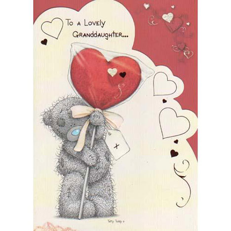 Lovely Granddaughter Me To You Bear Valentines Day Card