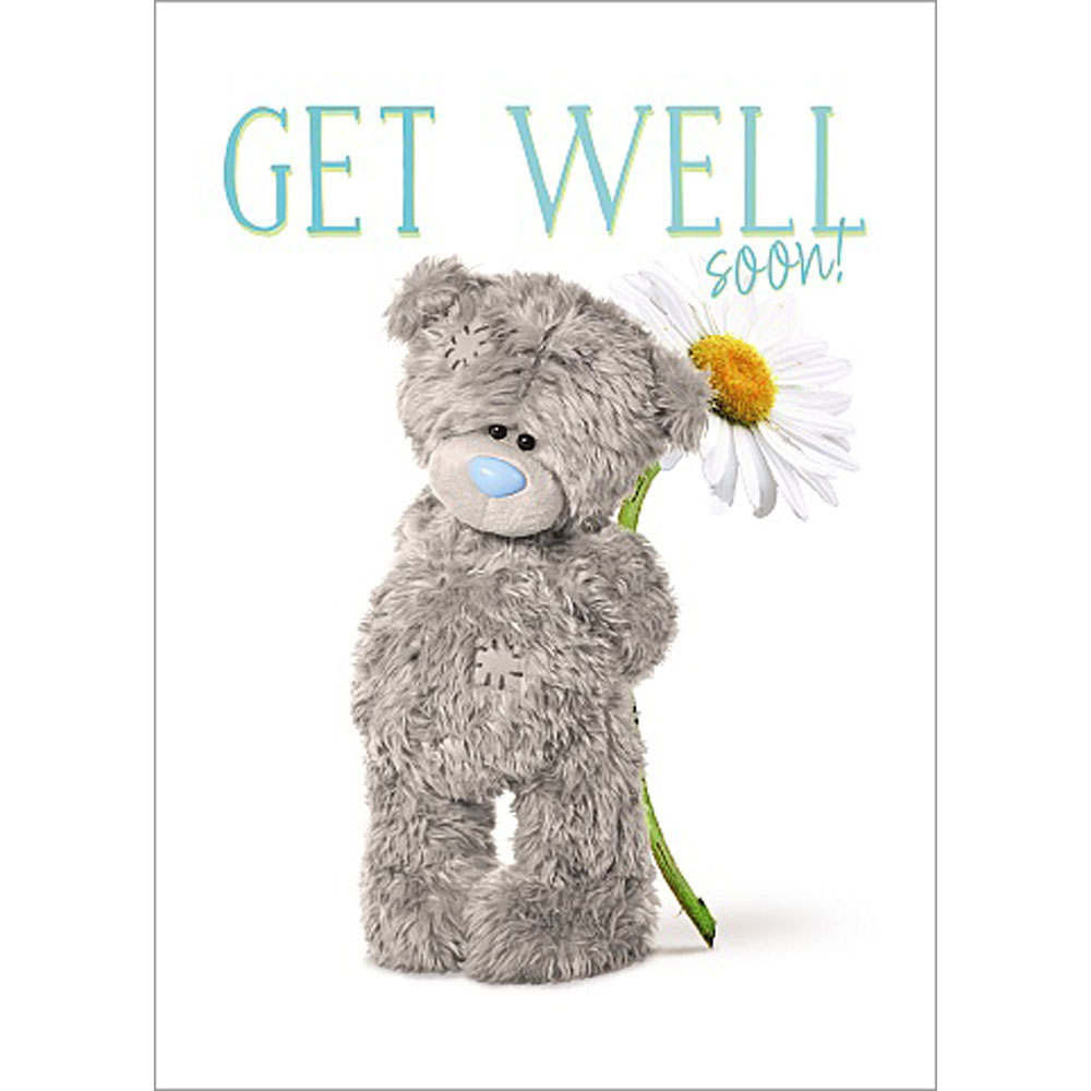 Get Well Soon Photo Finish Me To You Bear Card A93SS027