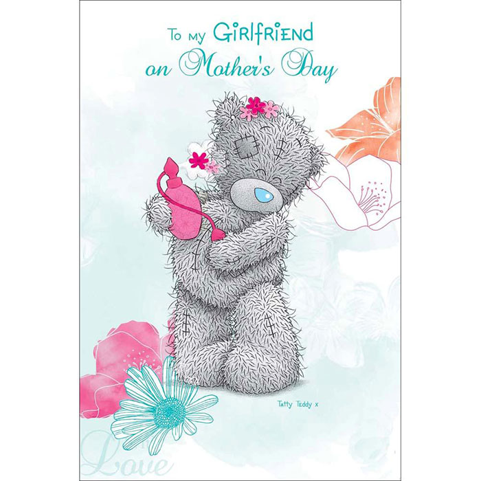 To My Girlfriend On Mothers Day Me To You Bear Card