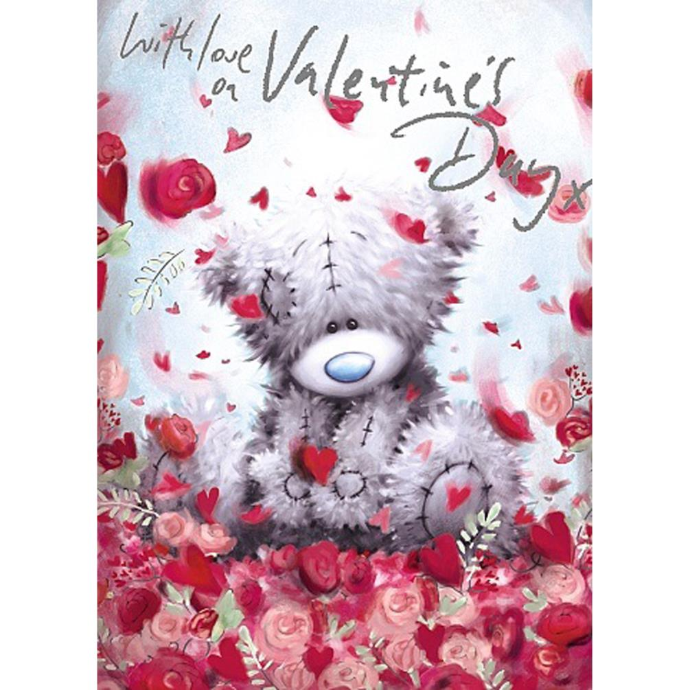 With Love You Me To You Bear Valentines Day Card V77SS006