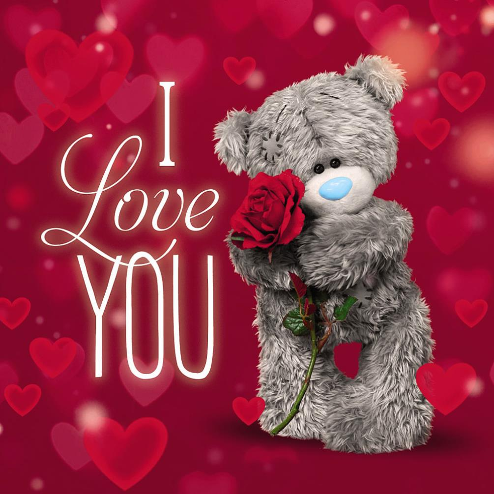 3D Holographic I Love You Me To You Bear Valentines Day