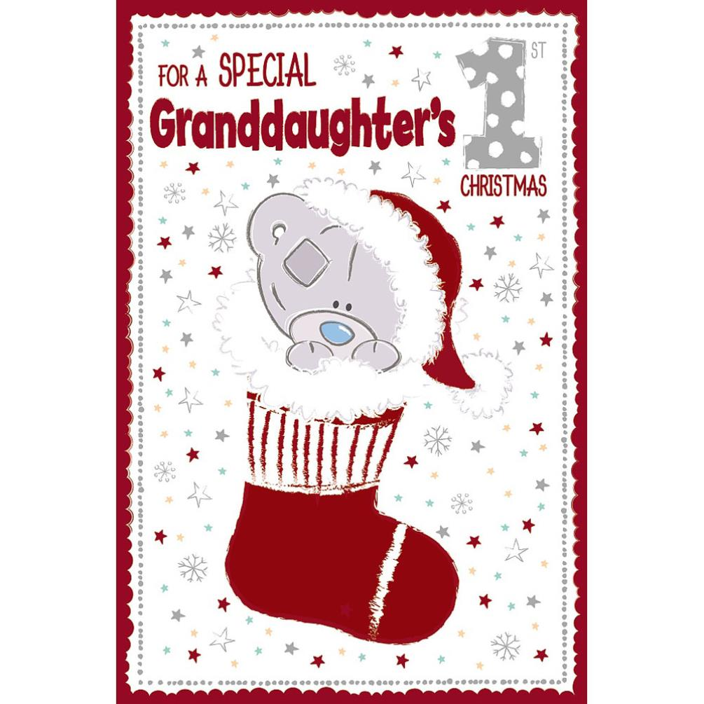 Special Granddaughters 1st Christmas Me To You Bear