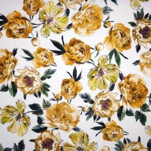 Tela lino – fiori gialli