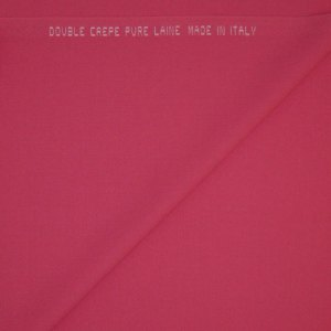Double crepe Pura Lana – rosa fluo