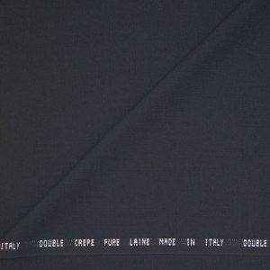 Double crepe Pura Lana – grigio canna di fucile