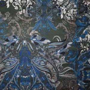 Tessuto imprimè – Paisley toni blu