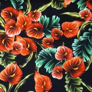 Cotone stretch stampato – Anthurium