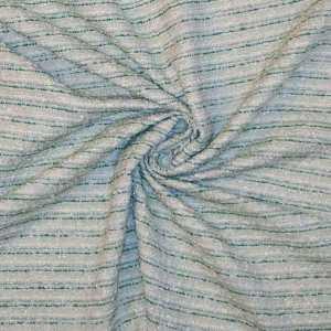 Tweed bouclè – Lurex acqua, verde e bianco