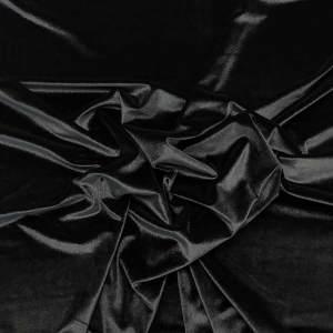 Velluto liscio stretch – nero