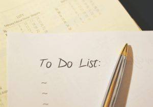 to do list written on the paper