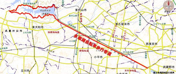 該当道路の地図