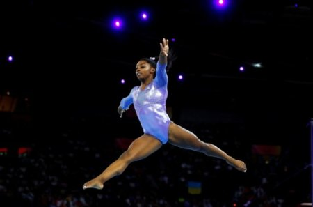 WATCH: Incredible Slow-motion Video Shows Olympic Gymnast Simone Biles Barely Touching the Ground During a Tumbling Pass