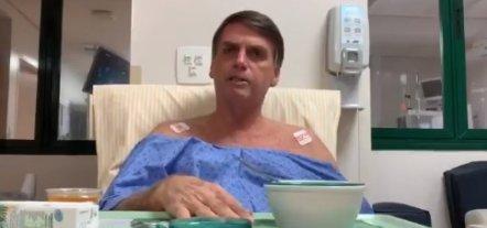 [Em vídeo no hospital, Bolsonaro agradece a médicos e volta a culpar PSOL por atentado]