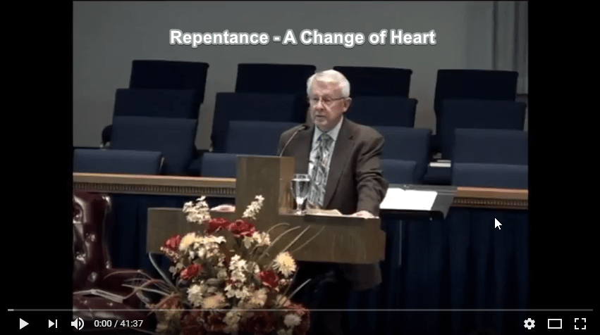 Repentance – A Change of Heart