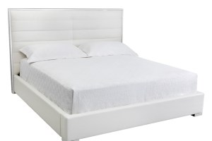 AVALON BED – KING – WHITE LEATHER