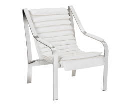 CANBERRA CHAIR – WHITE LEATHER