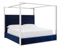 DALTON BED – KING – GIOTTO NAVY FABRIC