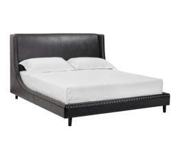 HARLOW BED – QUEEN – JAMES BLACK LEATHER
