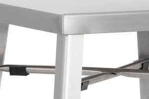 AARON COUNTER STOOL STAINLESS STEEL
