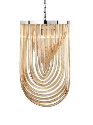 KEPLER – CHANDELIER – LARGE – AMBER GLASS