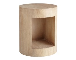BEACON END TABLE – DRIFTWOOD