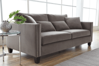 CATHEDRAL SOFA – GREY FABRIC