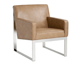 SHELDON ARMCHAIR – PEANUT LEATHER