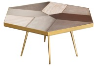 Giselle Coffee Table Concrete Oak