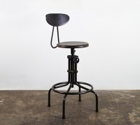 V19c-b Adjustable Stool Burnt Brown