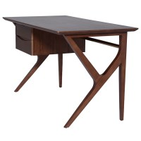 Karlo Desk Table Walnut