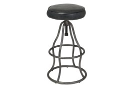 Bowie Bar Stool – Distressed Black Leather