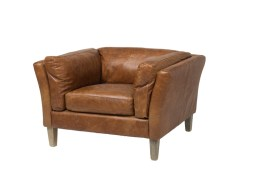 Cartwell Club Chair – Distressed Brown Leather