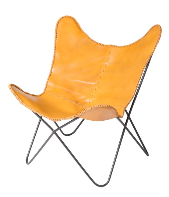 Earth Wind Fire Butterfly Chair – Brown Leather (4 per box)