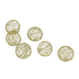 Crinkle Wire Balls Set of Six – Gold