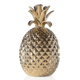 Pineapple Gold Crown Gold Ceramic Canister – Tall