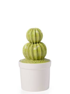 Cactus White Decor Canister Small – Spiny Ball