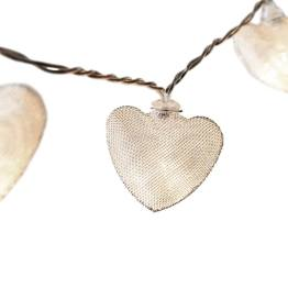 Lucent Metal Heart Shape 10 LED Battery Operated Light String