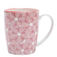 Kiri Porcelain Mug – Red with Red Trim