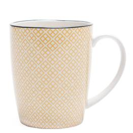 Kiri Porcelain Mug – Yellow with Black Trim