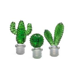 Cactus Glass Bottle Toppers – Set of Three