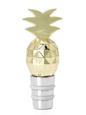 Cheers Bottle Topper – Gold Pineapple