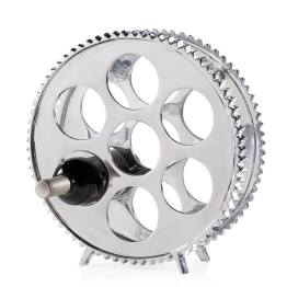 Aluminum Gear 7 Bottle Wine Rack