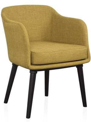 Fulton Curve Upholstered Armchair – Olive