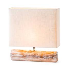 Resin Log Lamp – White