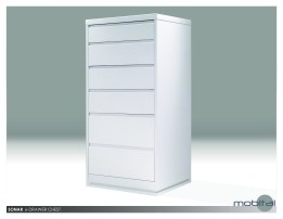Blanche 6-Drawer Chest Hight Gloss White